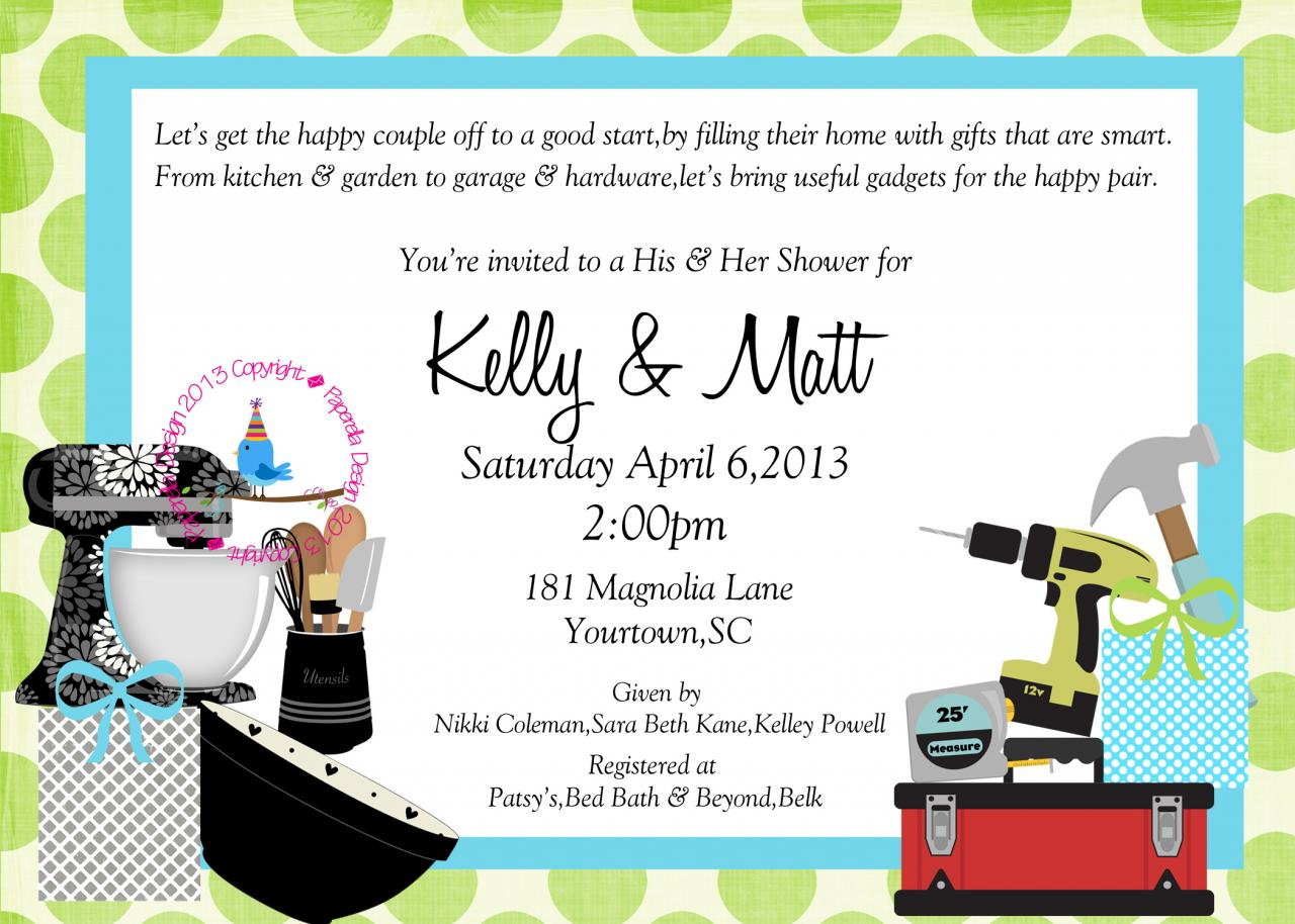 Couples Wedding Shower Gift Ideas: Couples Wedding Shower Invitation On Luulla